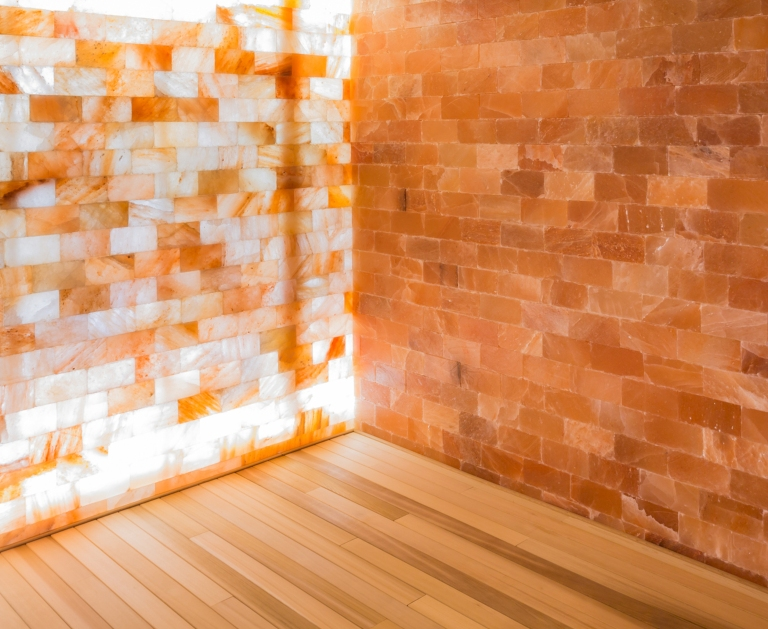spa room salt wall